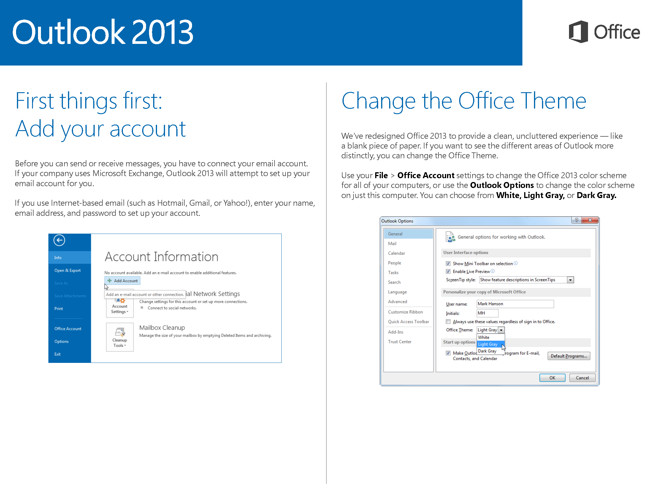microsoft outlook 2013 themes download