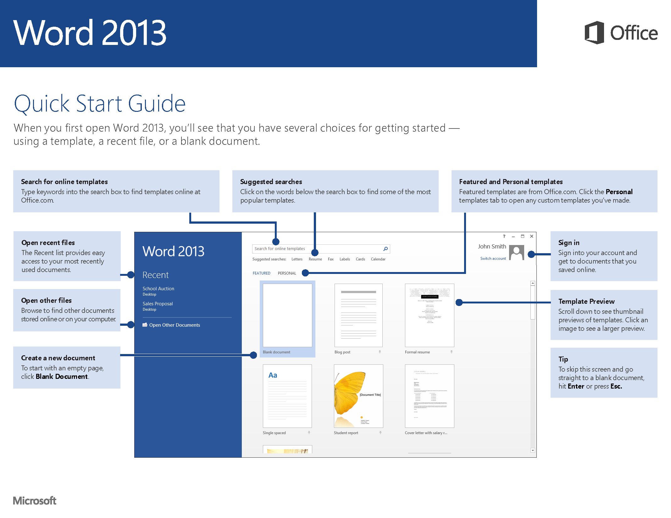 word 2013 startup guide dfeh technical support